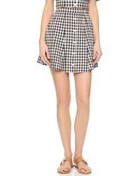 Capulet - Button Down Miniskirt - Lyst
