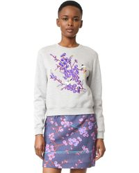 Carven - Embroidered Sweatshirt - Lyst