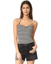 Clayton - Capri Stripe Halter Bodysuit - Lyst