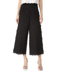 Costarellos - Lace Cropped Trousers - Lyst