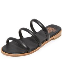 Charlotte Stone - Bruna Leather Slides - Lyst