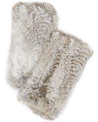 Diane von Furstenberg | Rabbit Fingerless Gloves | Lyst