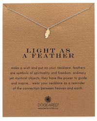 Dogeared - Light As A Feather Charm Necklace - Lyst