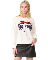 Edition10 - Knitted Crew Neck Sweatshirt - Lyst