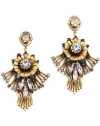 Elizabeth Cole - Alisanne Crystal Earrings - Lyst