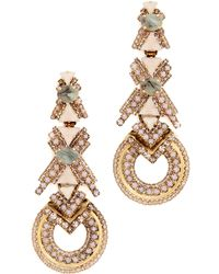 Elizabeth Cole - Xo Earrings - Lyst