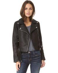 ELEVEN PARIS - Leatherette Jacket - Lyst