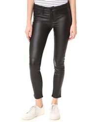 Etienne Marcel   Leather Front Trousers   Lyst