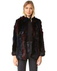 525 America - Hooded Rabbit Fur Vest - Lyst