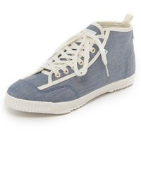 Feiyue - X Solid & Striped Candice Trainers - Lyst