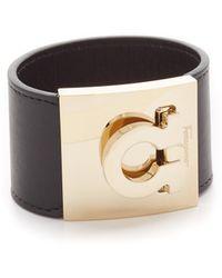 Ferragamo - Wide Gancio Cuff Bracelet - Lyst