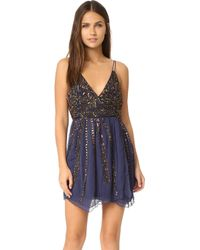 Free People - Cassiopeia Embellished Mini Party Dress - Lyst