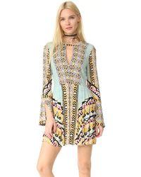 Free People - Tegan Border-print Mini Dress - Lyst