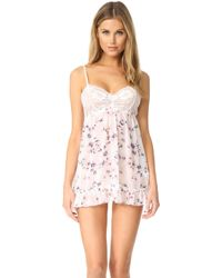 Hanky Panky - Floral Chiffon Babydoll With G-string - Lyst