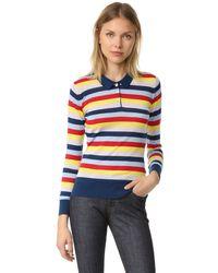 Holly Fulton - Wide Stripe Polo Shirt - Lyst
