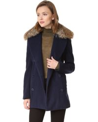 Jenni Kayne - Peacoat With Fur Collar - Lyst