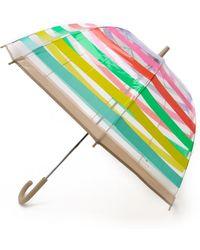 Kate Spade - Stripes Umbrella - Lyst
