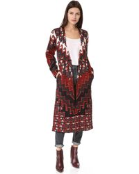 Mara Hoffman - Bolnisi Rug Sweater Coat - Lyst