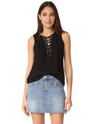 McGuire Denim - The Kaia Lace Up Top - Lyst