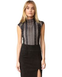 Misha Collection - Giulia Lace Bodysuit - Lyst
