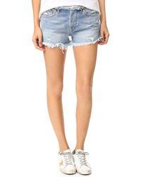 NSF - Drai Frayed Cutoff Shorts - Lyst