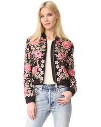 Needle & Thread - Embroidery Rose Bomber Jacket - Lyst