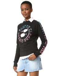 Olympia Le-Tan - Griffin Embroidered Sweatshirt - Lyst