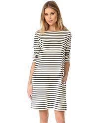Petit Bateau - Hannah Long Sleeve Striped Dress - Lyst