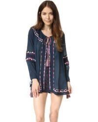 Pia Pauro - Long Sleeve Embroidered Tunic - Lyst