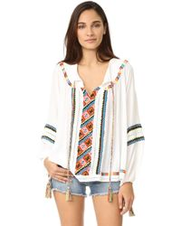 Pia Pauro - Cold Shoulder Embroidered Lace Top - Lyst
