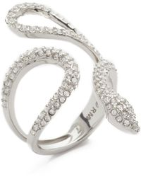 Rebecca Minkoff - Pave Snake Statement Ring - Lyst