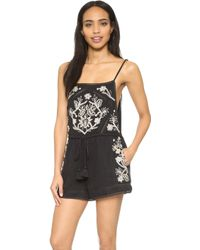 Rory Beca - Yser Embroidered Romper - Lyst