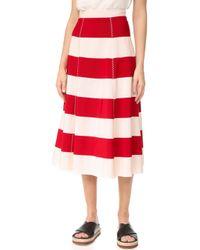 Rossella Jardini - Striped Flared Skirt - Lyst