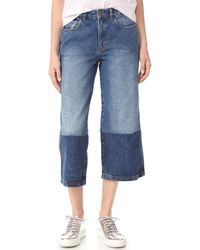 Robert Rodriguez - Two Tone Denim Gaucho Pants - Lyst