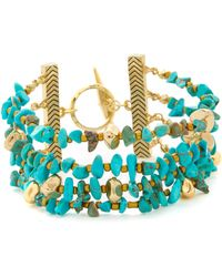 Sam Edelman - Multi Row Nugget Bracelet - Lyst