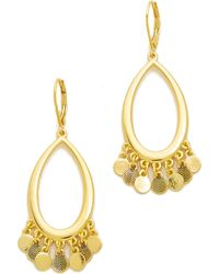 Sam Edelman - Shaky Oval Hoop Earrings - Lyst