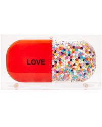 Sarah's Bag - Confetti Love Pill Clutch - Lyst