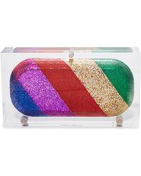 Sarah's Bag - Rainbow Pill Clutch - Lyst