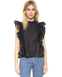 Shakuhachi - Open Back Ruffle Top - Lyst