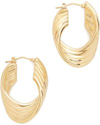Soave Oro | Polished Twisted Hoop Earrings | Lyst