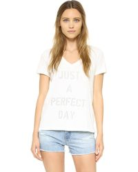 Sol Angeles - Perfect Day V Neck Tee - Lyst