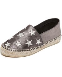 South Parade - Star Embroidered Leather Espadrilles - Lyst
