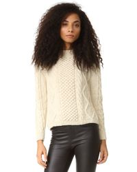Tejido - Aran Cable Pullover - Lyst