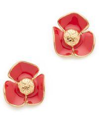 Tory Burch - Fleur Stud Earrings - Lyst