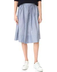 Vince - Shirred Full Skirt - Lyst