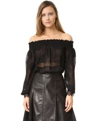 Yigal Azrouël - Off Shoulder Top - Lyst