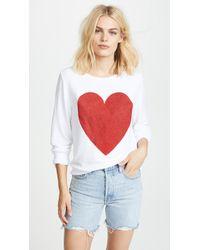 Wildfox - Sparkle Heart Baggy Beach Pullover - Lyst