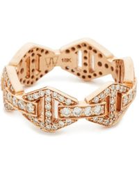 WALTERS FAITH - Keynes All Diamond Hexagon Stackable Ring - Lyst
