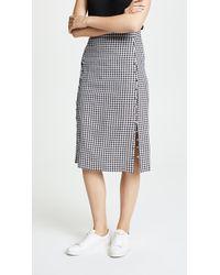 Madewell - Gingham Pencil Skirt - Lyst