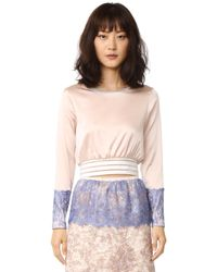 Loyd/Ford - Crop Pullover With Lace - Lyst